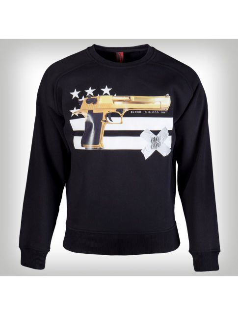 Blood in Blood Gun and Stripes Sweater